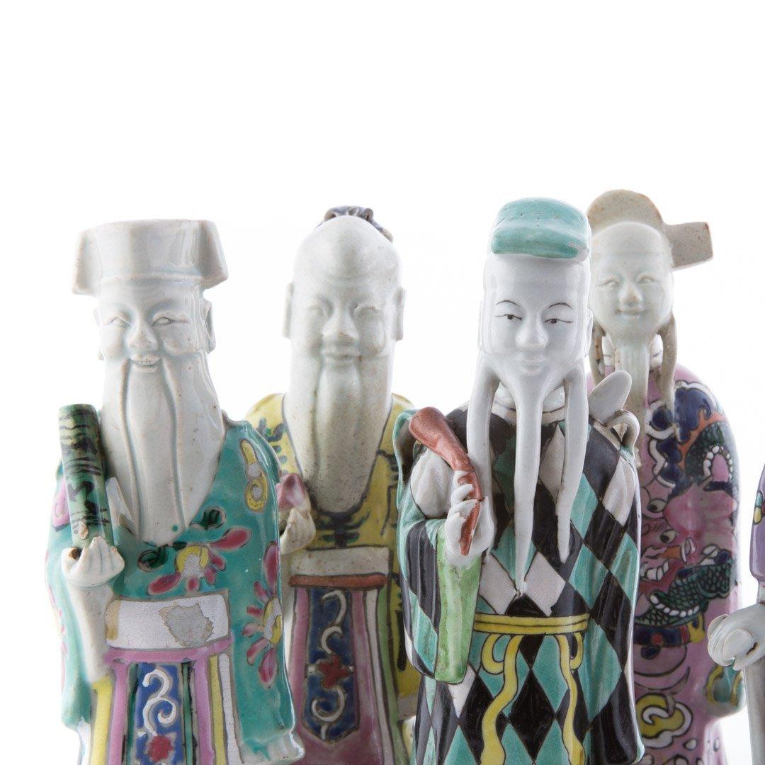 Seven Chinese Export porcelain Immortals - 5