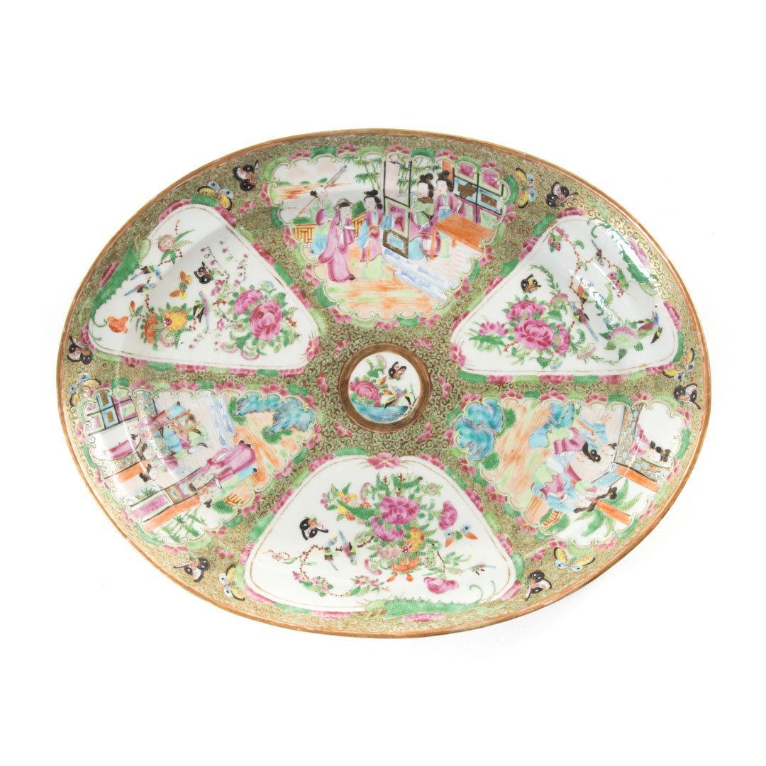 Chinese Export Rose Medallion oval platter
