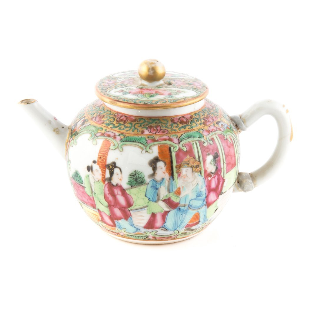 Five Chinese Export porcelain miniature teapots - 3