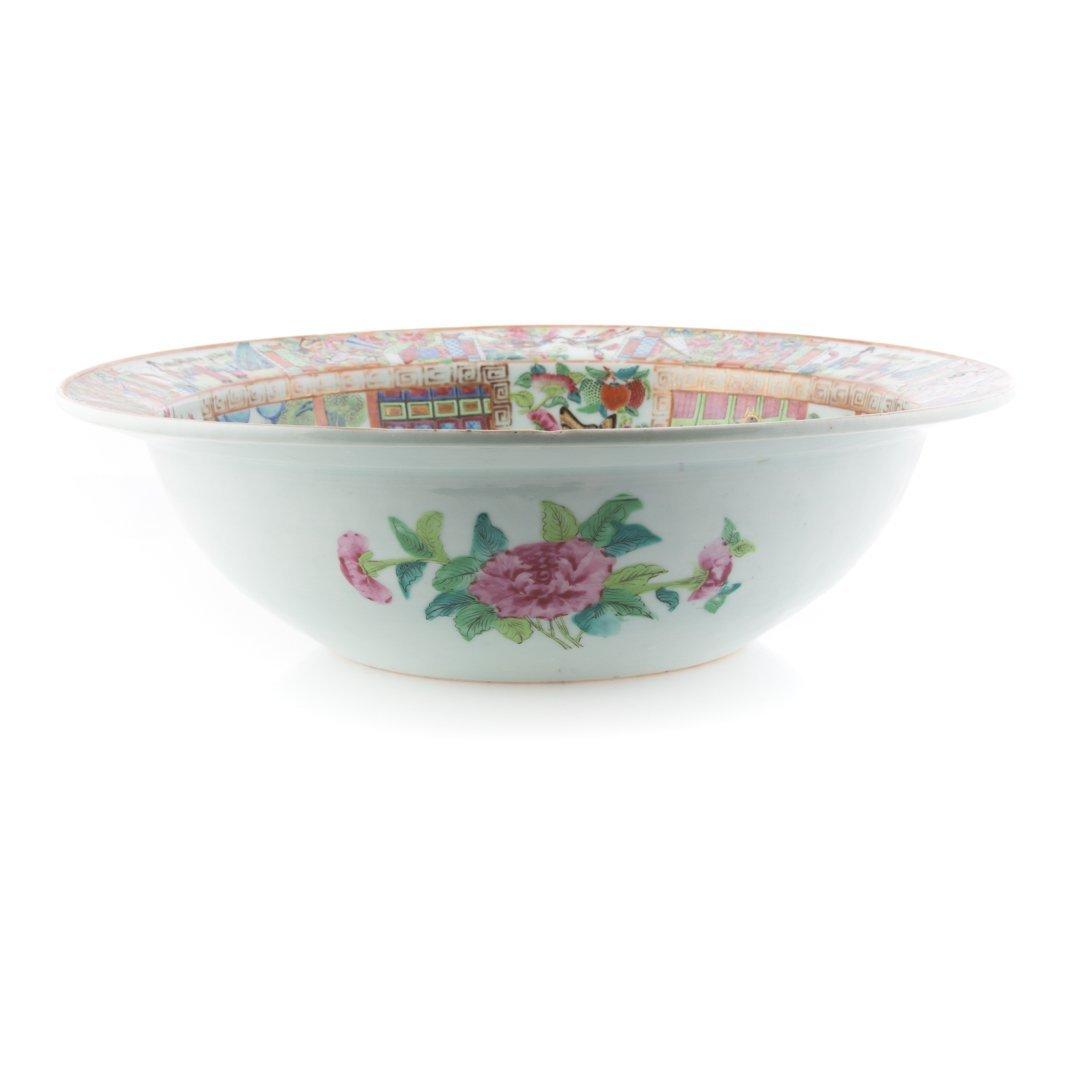Chinese Export Rose Mandarin wash basin