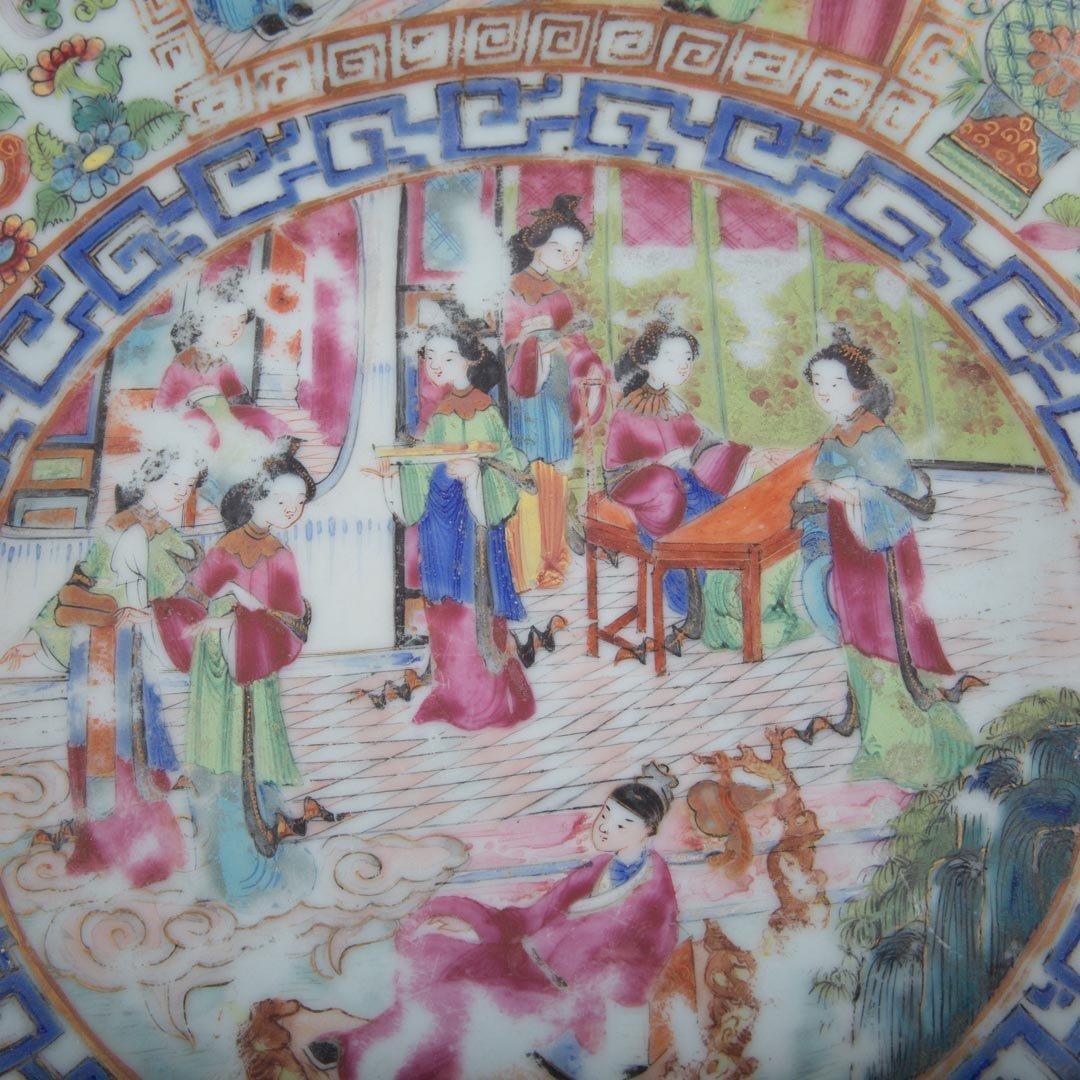 Chinese Export Rose Mandarin wash basin - 4