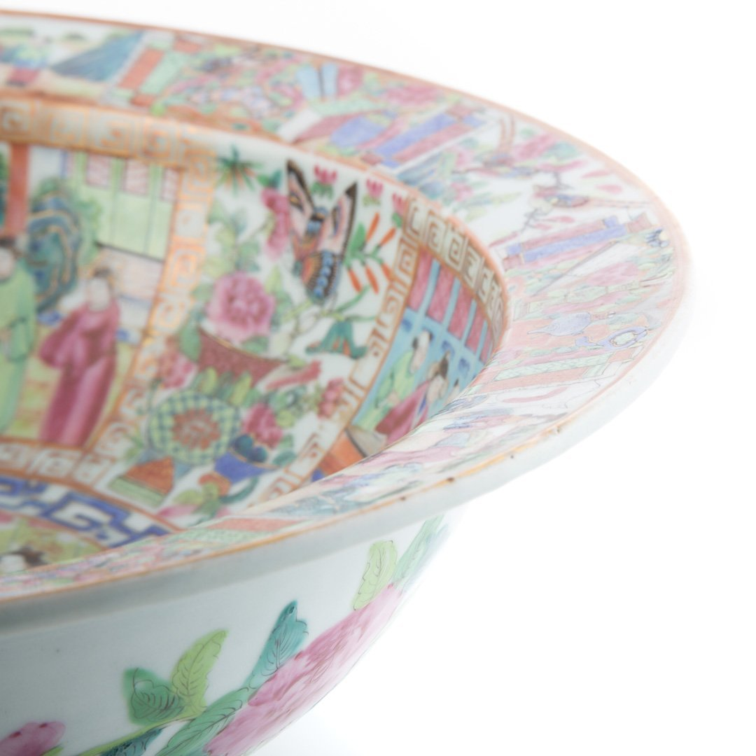Chinese Export Rose Mandarin wash basin - 5