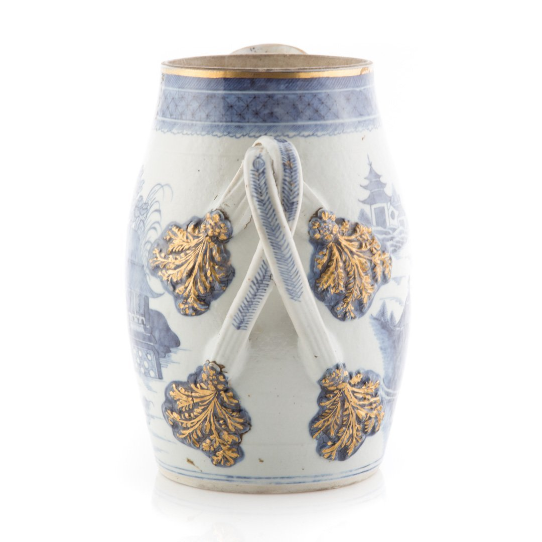 Chinese Export Nanking porcelain flagon - 4