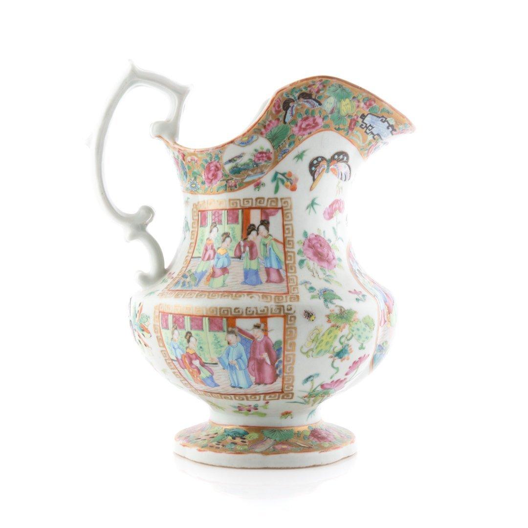 Chinese Export Rose Mandarin pitcher