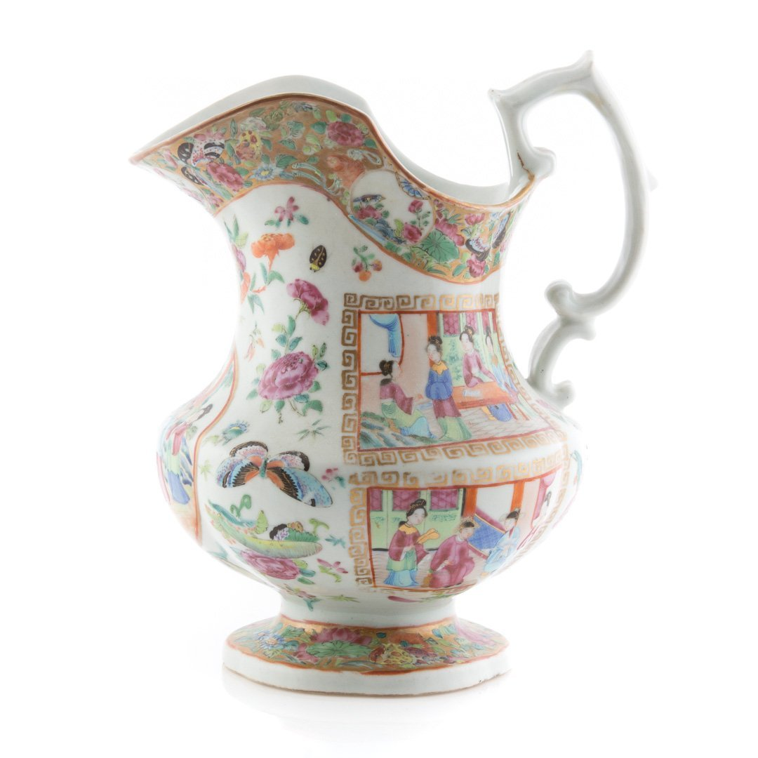 Chinese Export Rose Mandarin pitcher - 3