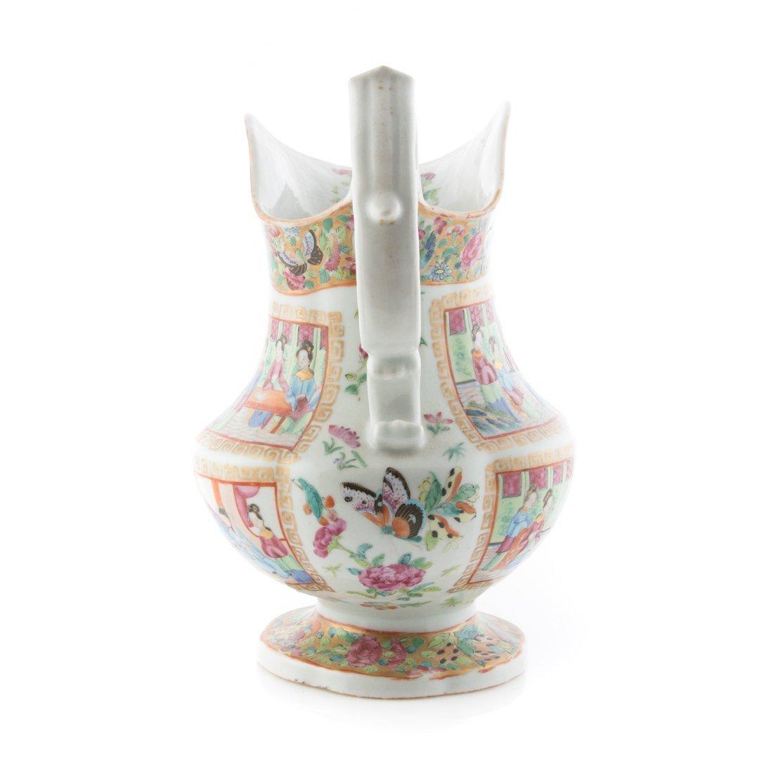 Chinese Export Rose Mandarin pitcher - 4