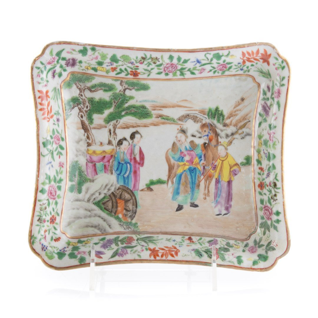 Six Chinese Export Famille Rose table articles - 3