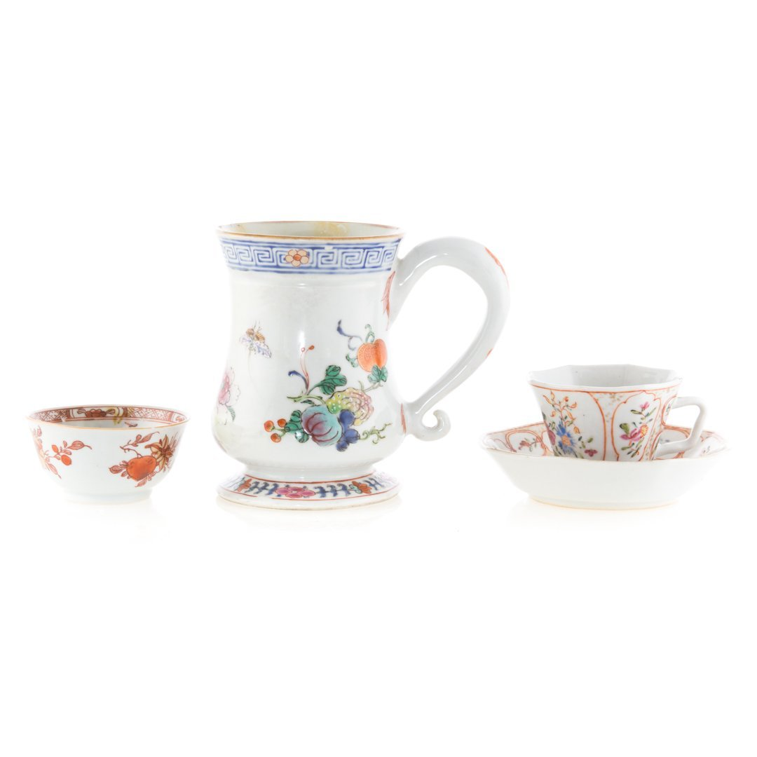 Three Chinese Export porcelain articles