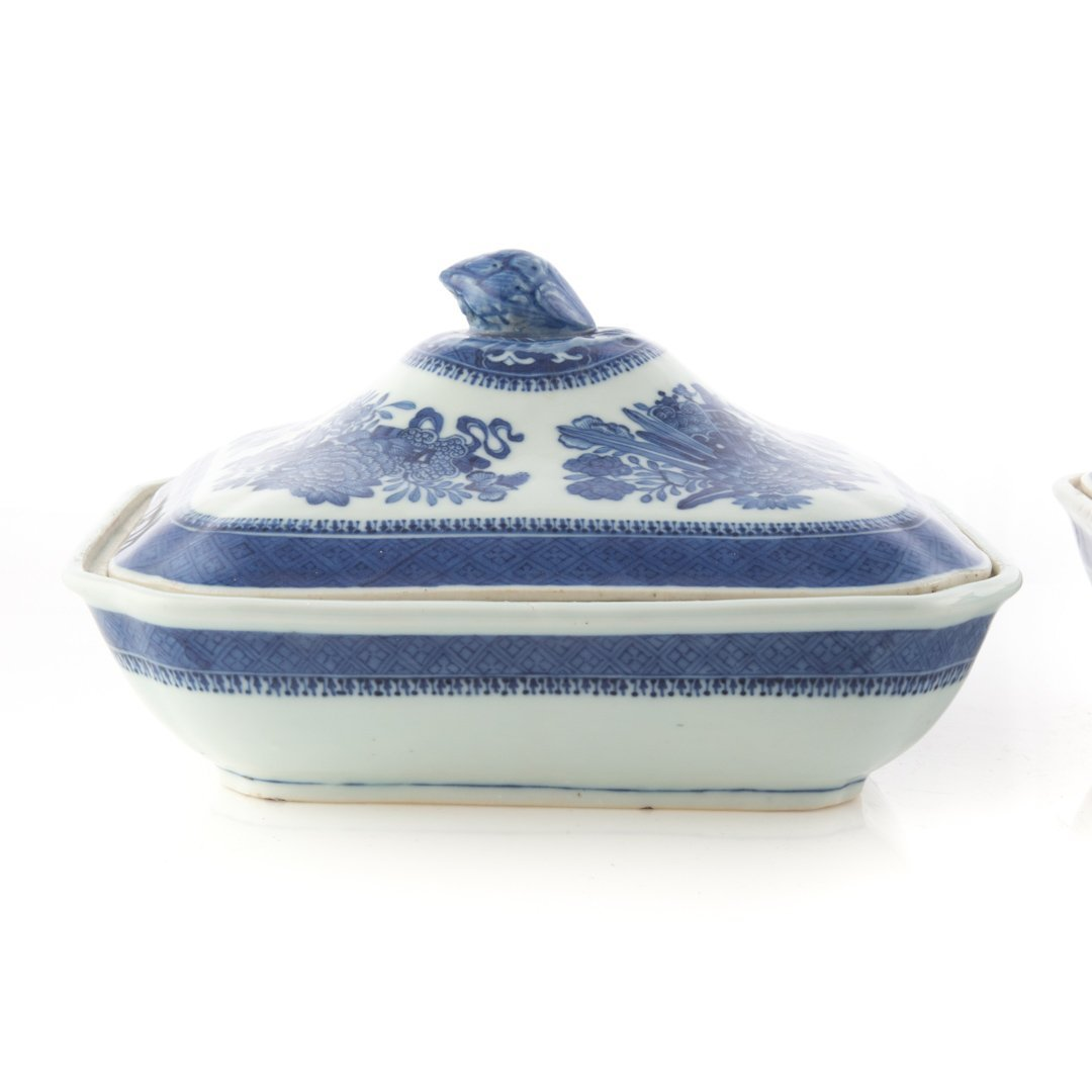 Pr. Chinese Export Blue Fitzhugh serving dishes - 3