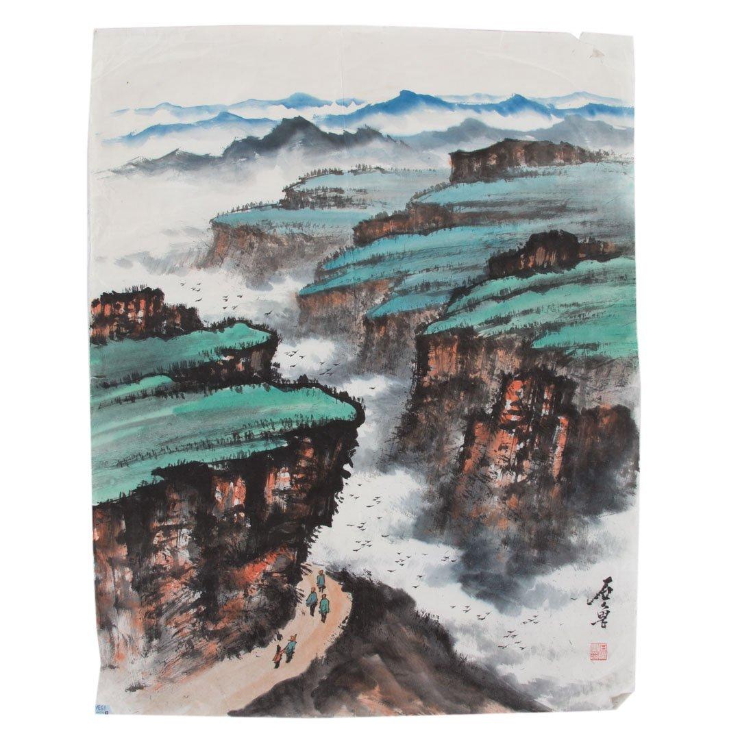 Chinese School 20th century gouache