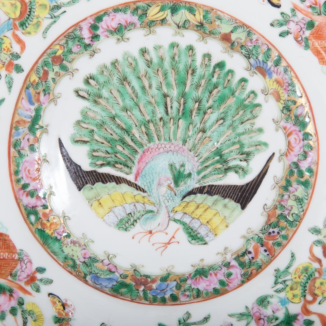 Two Chinese Export porcelain Famille Rose plates - 2