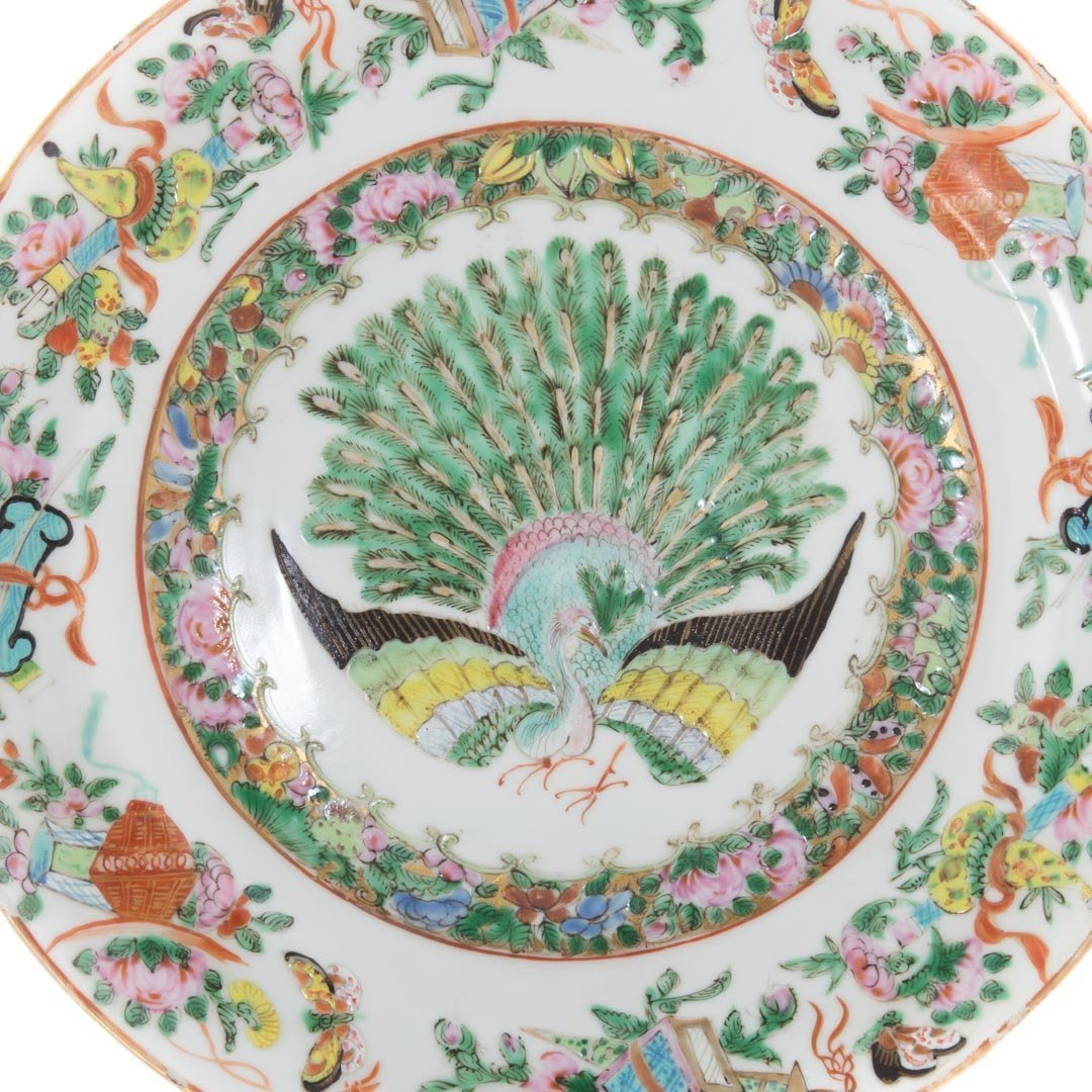 Two Chinese Export porcelain Famille Rose plates - 3