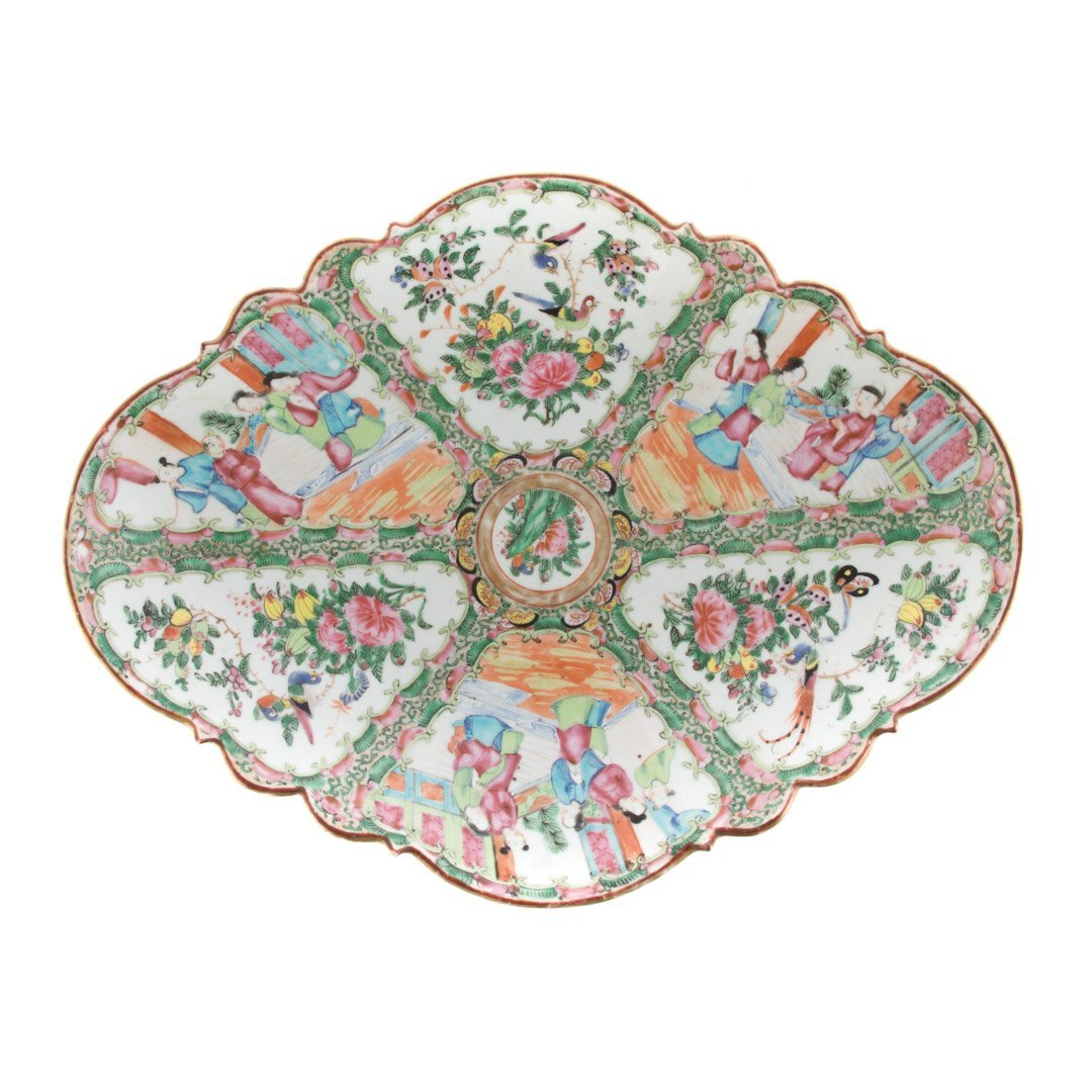 Chinese Export Rose Medallion plateau - 3