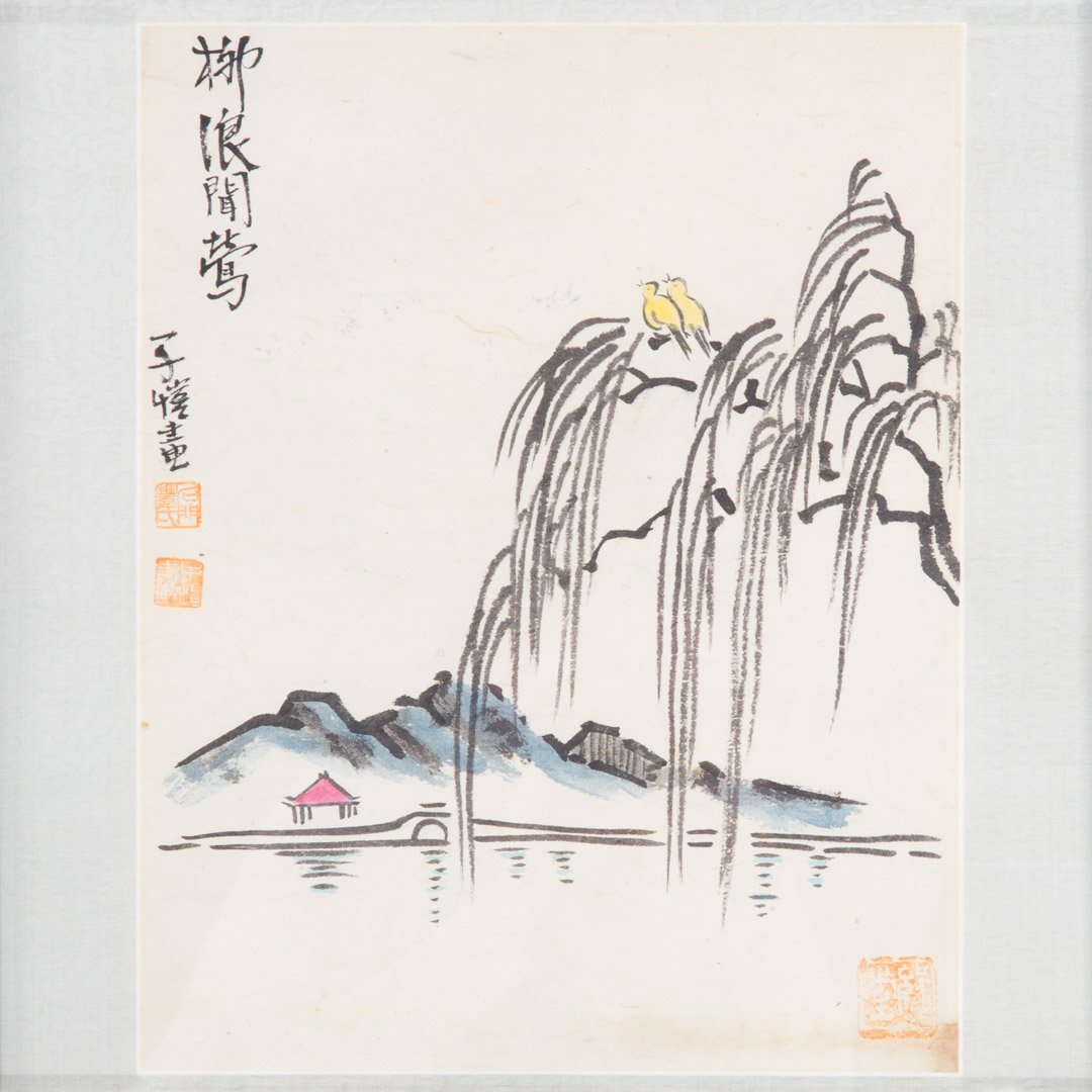 Pair Chinese School 20th century gouaches - 3