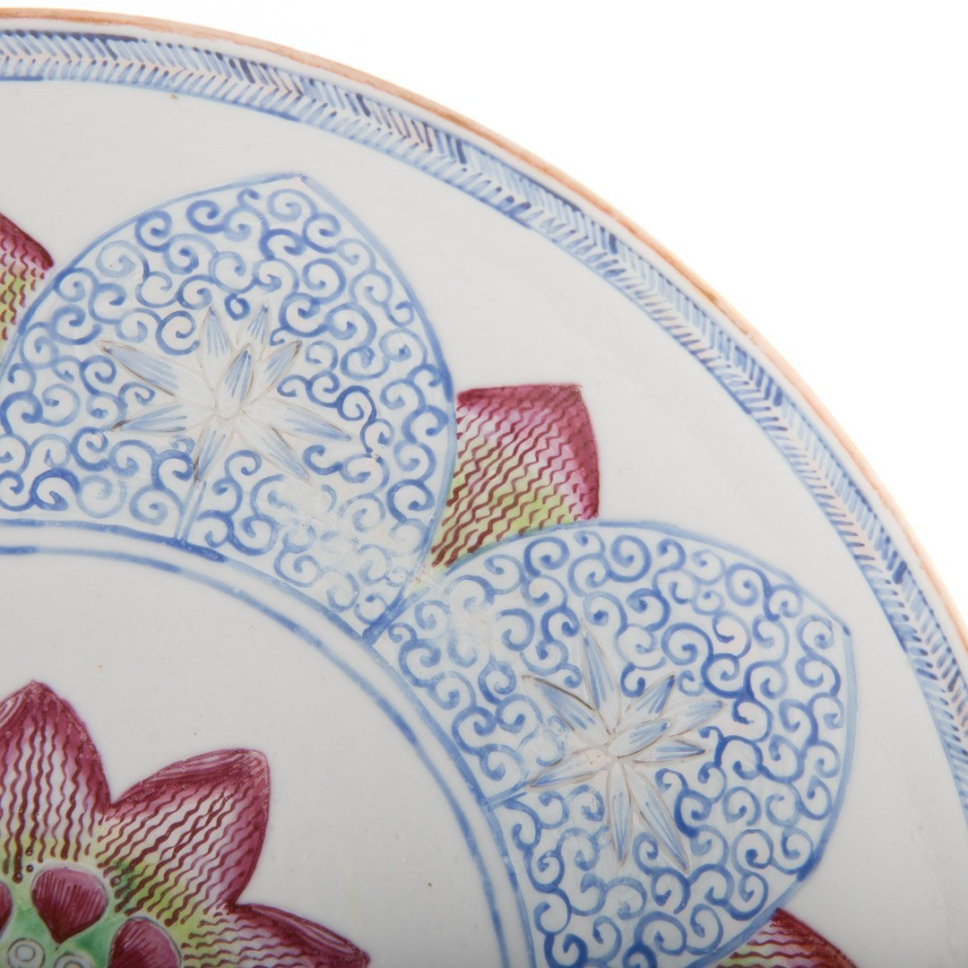 Chinese Export Famille Rose lotus bowl - 3