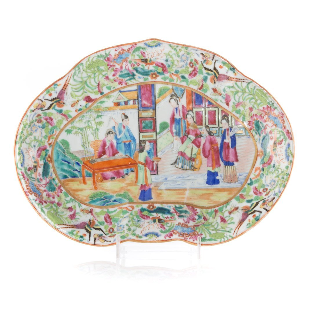Two Rose Mandarin porcelain articles - 2