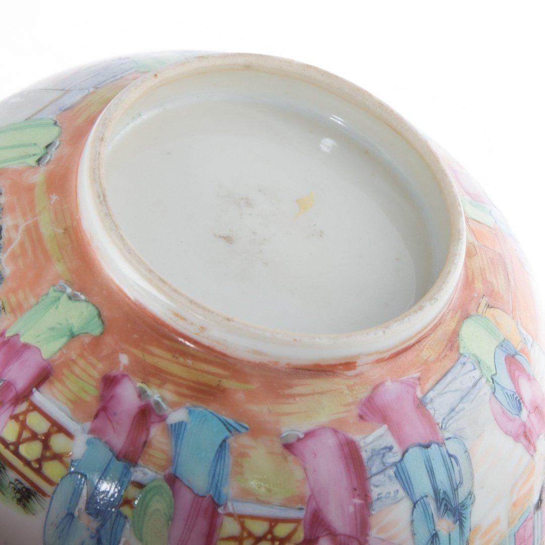 Two Rose Mandarin porcelain articles - 8