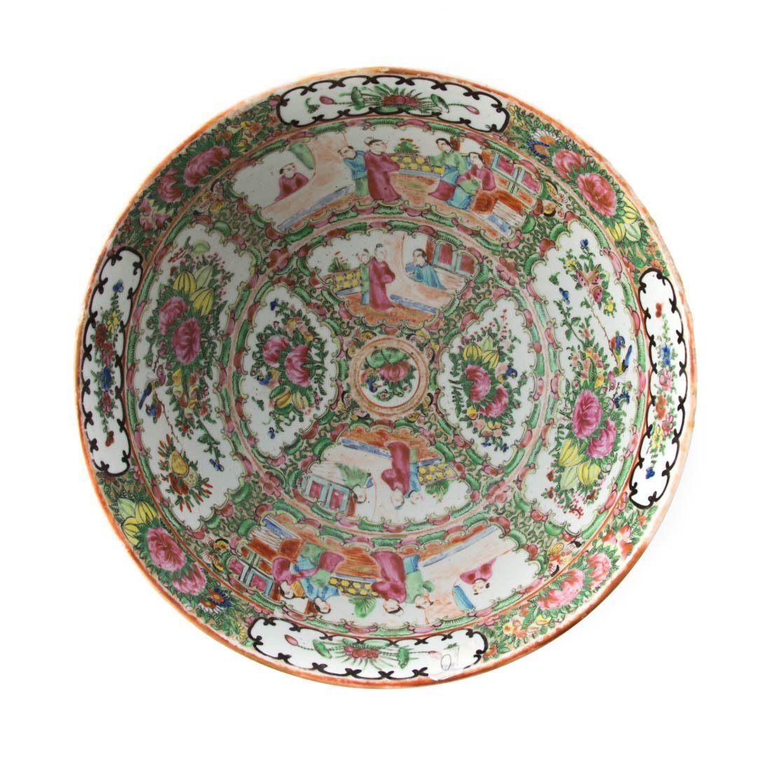 Chinese Export Rose Medallion bowl - 3