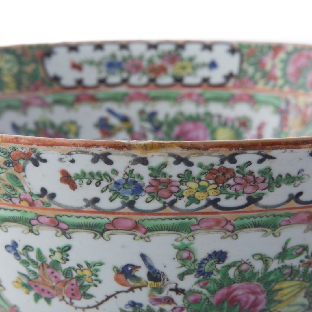 Chinese Export Rose Medallion bowl - 4