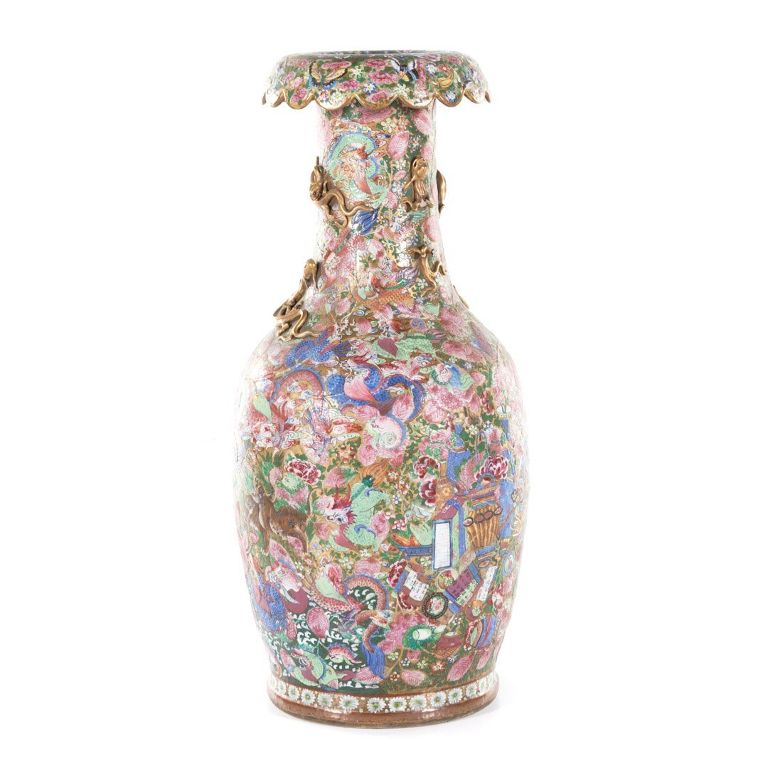Chinese Export Famille Rose palace vase - 2