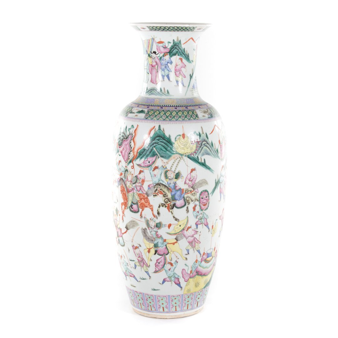 Chinese Export Famille Rose palace vase