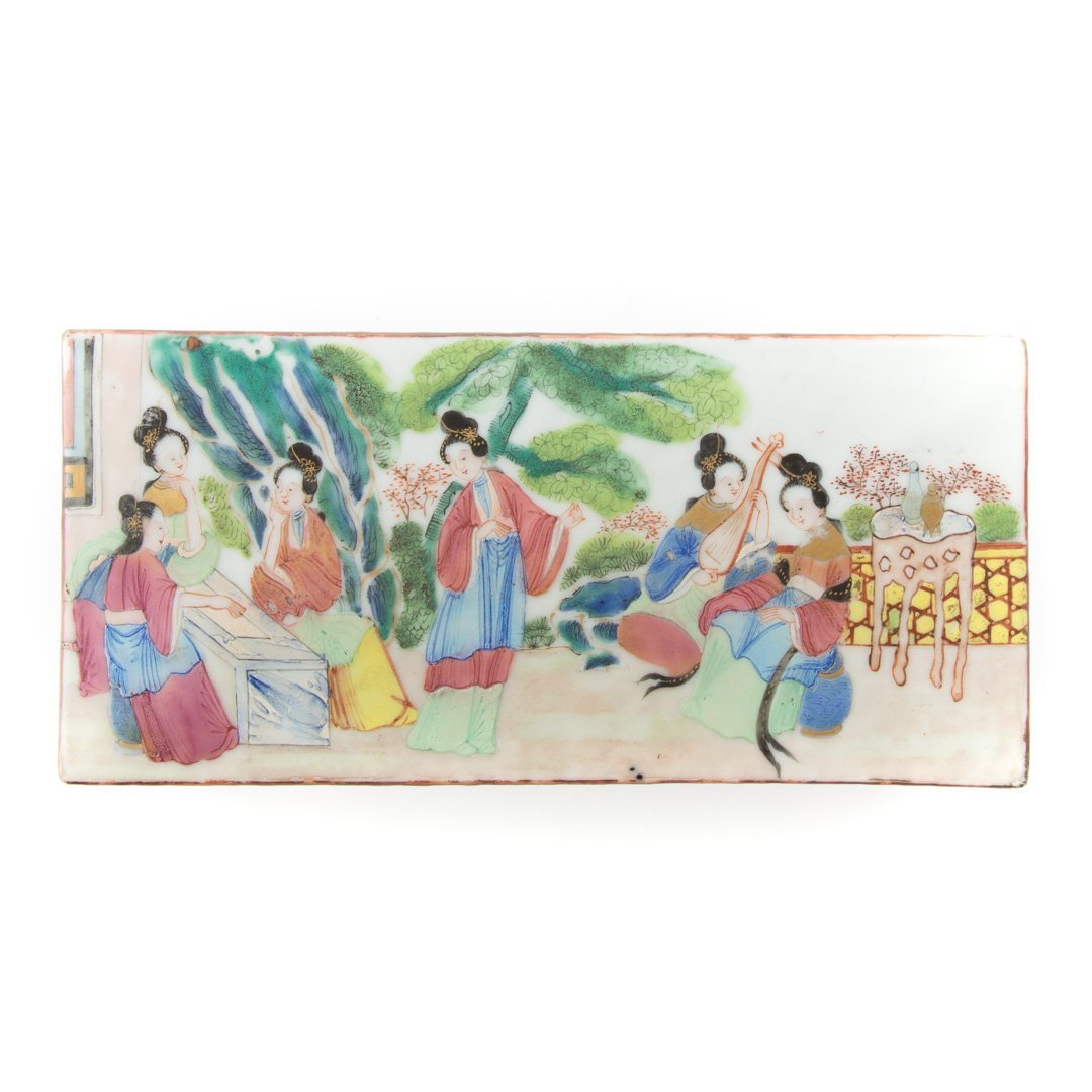 Chinese Export Rose Mandarin pen box - 3