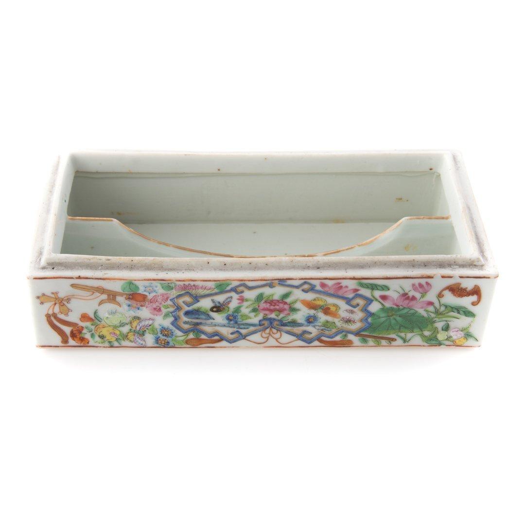 Chinese Export Rose Mandarin pen box - 4