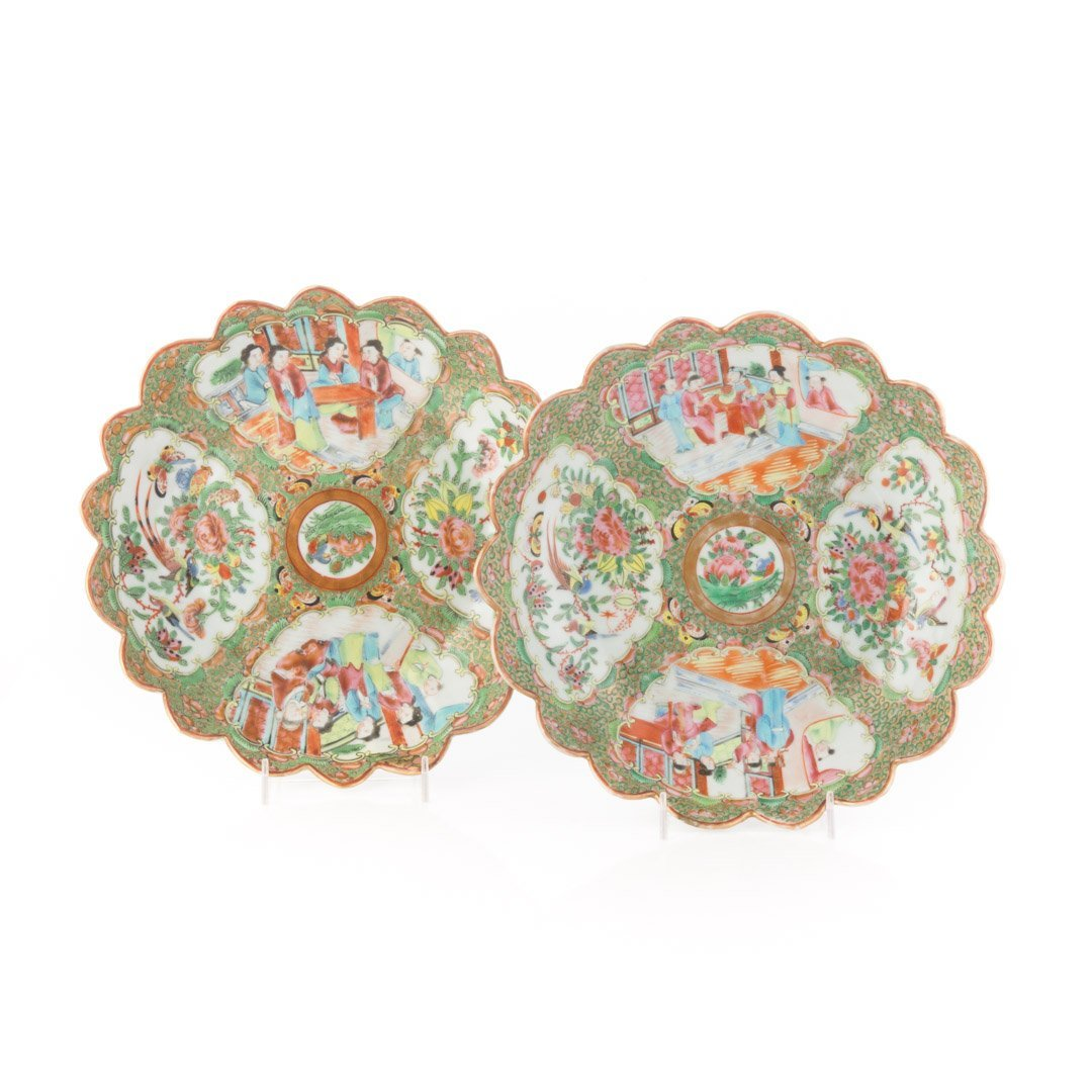 Two Chinese Export Rose Medallion berry bowls