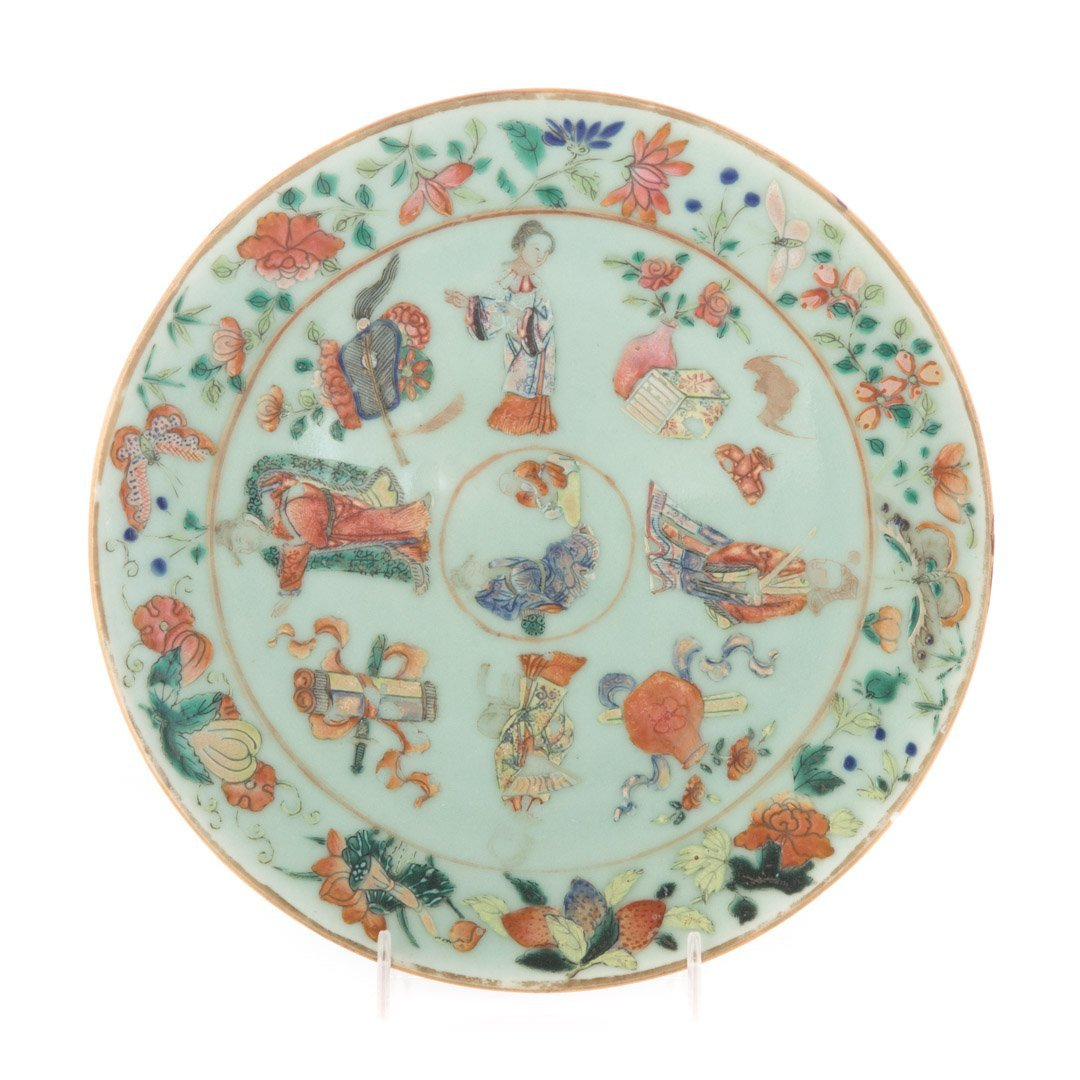 Chinese Export celadon plate