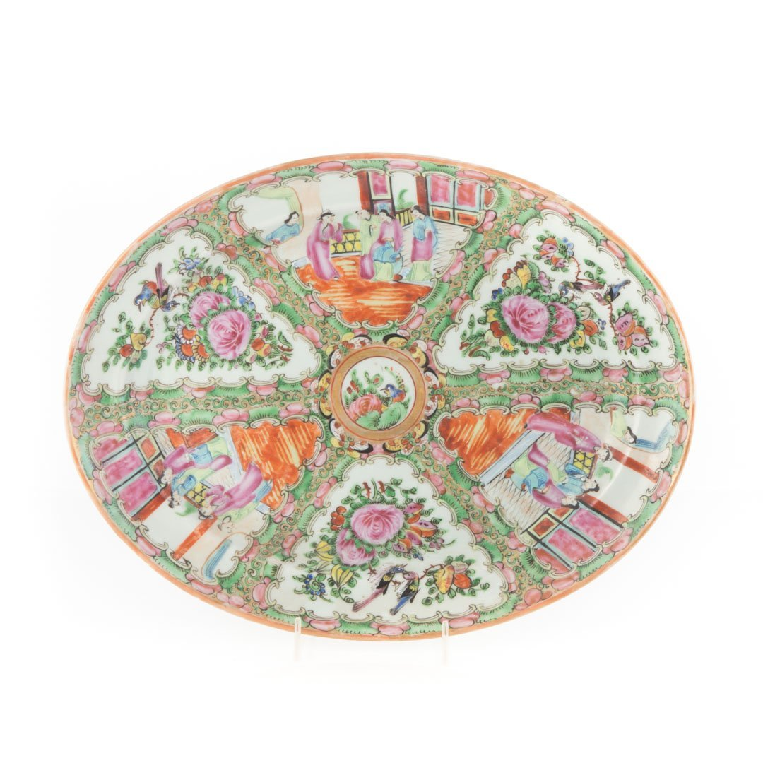 Three Chinese Export Rose Medallion platters - 2