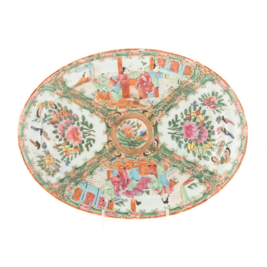 Three Chinese Export Rose Medallion platters - 6