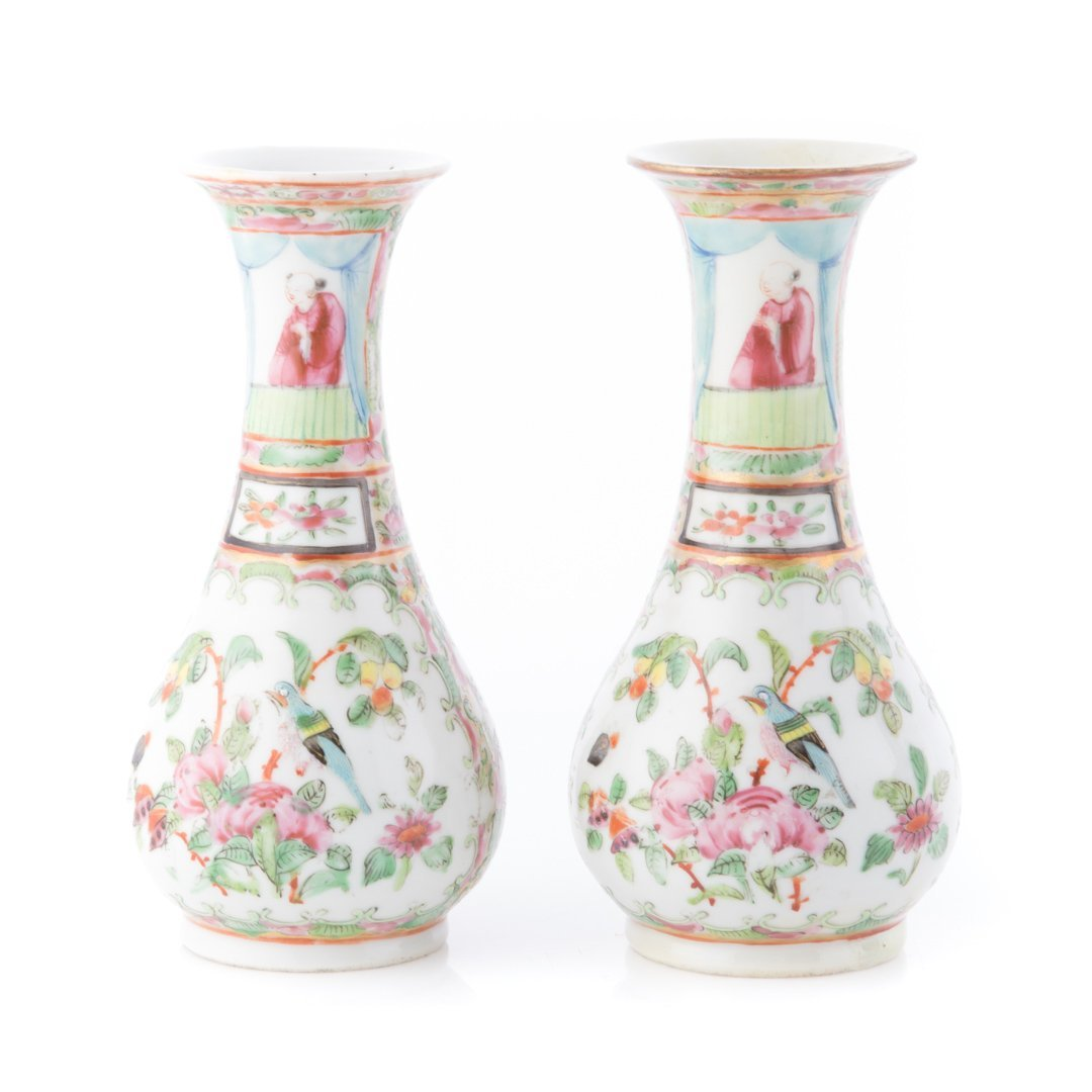 Five Chinese Export Famille Rose miniature vases - 2