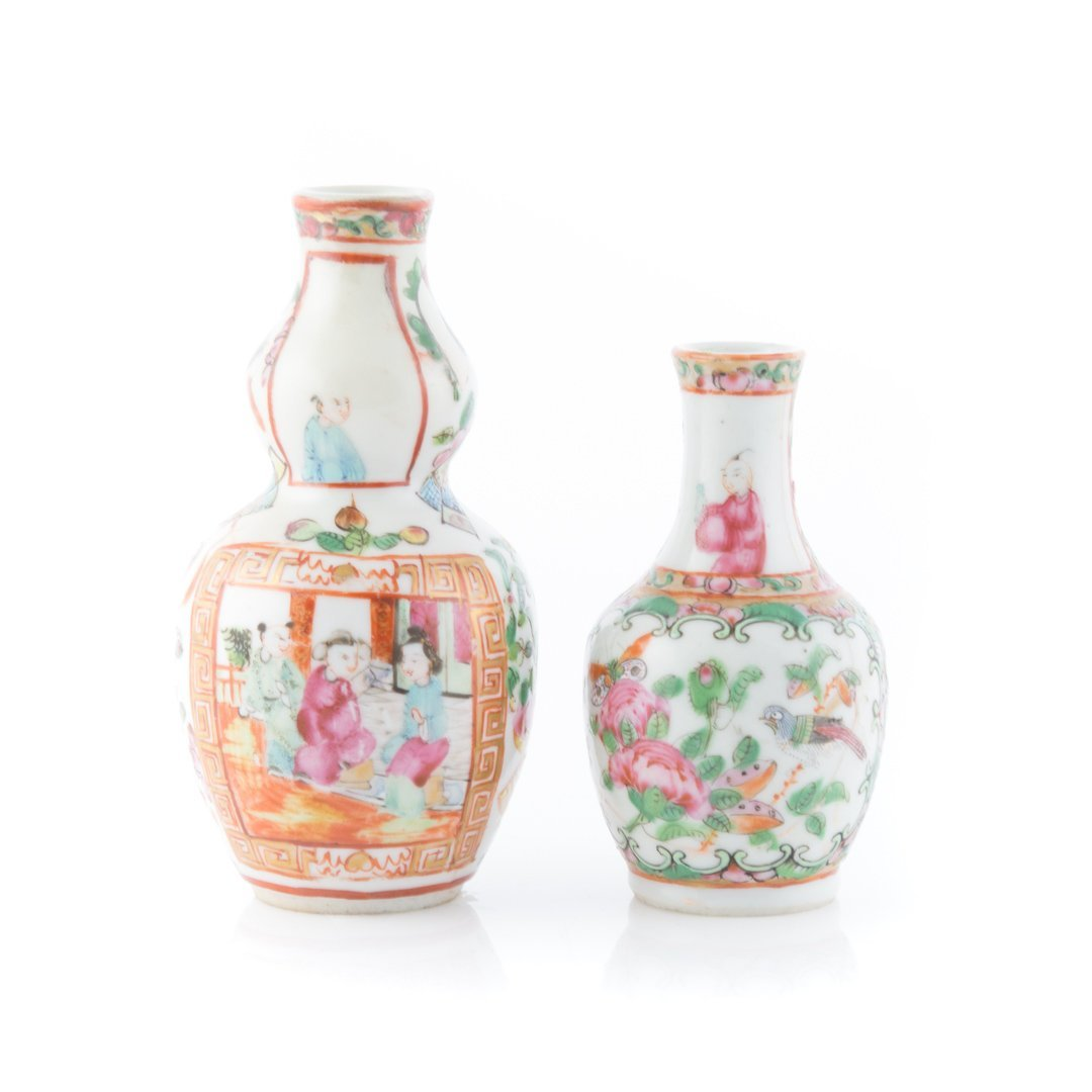 Five Chinese Export Famille Rose miniature vases - 4