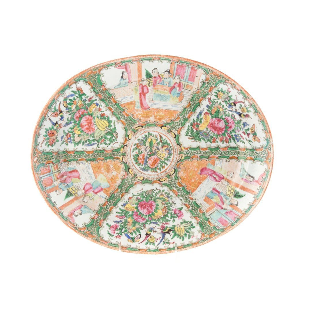 Two Chinese Export Rose Medallion platters - 2