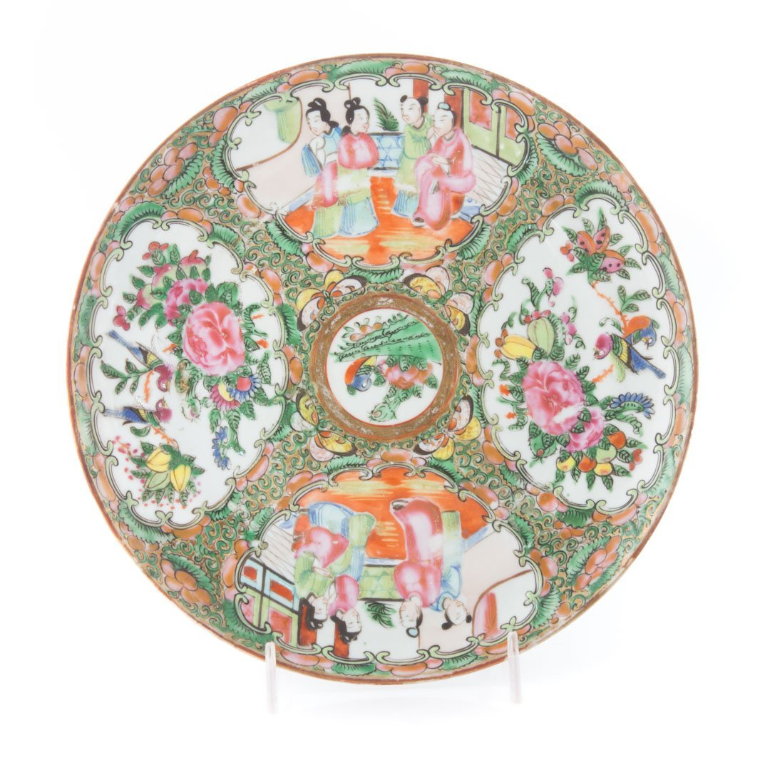 15 Chinese Export Rose Medallion dinner plates - 3