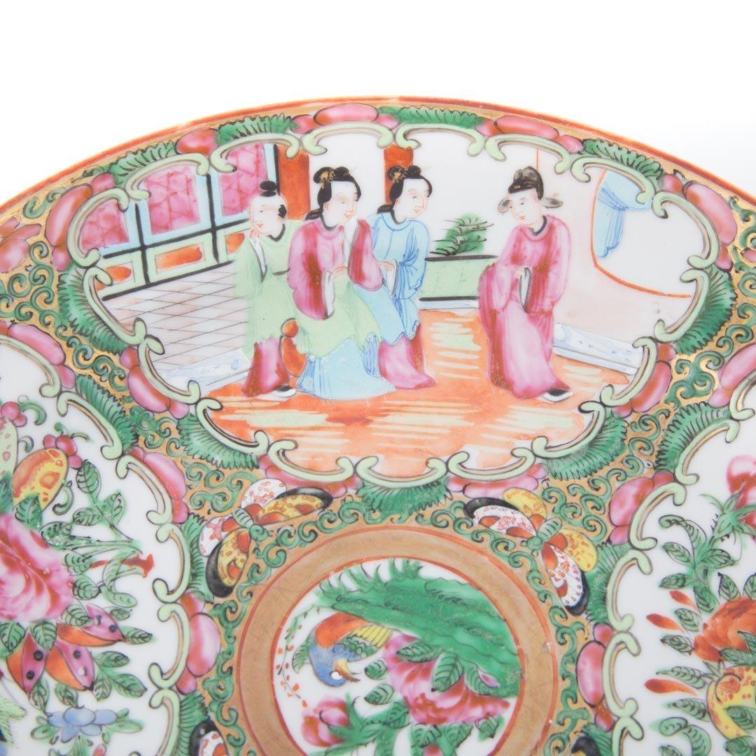 15 Chinese Export Rose Medallion dinner plates - 4