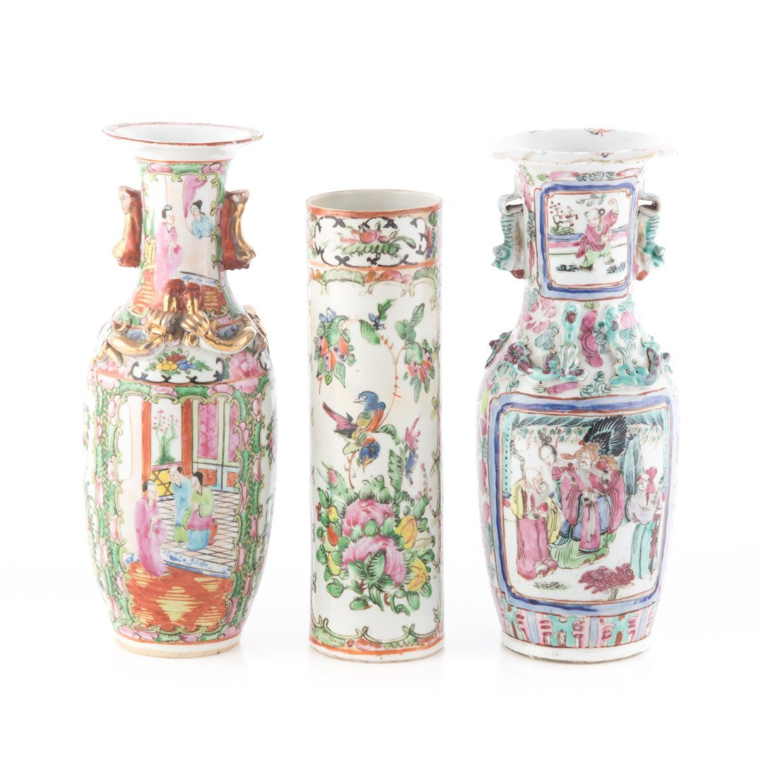 Three Chinese Export Famille Rose vases - 2