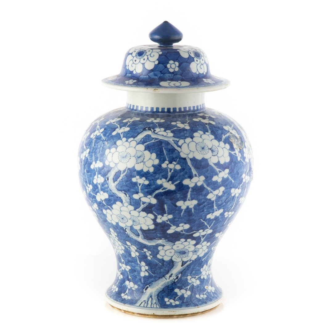 Chinese Export jar in the Hawthorne pattern