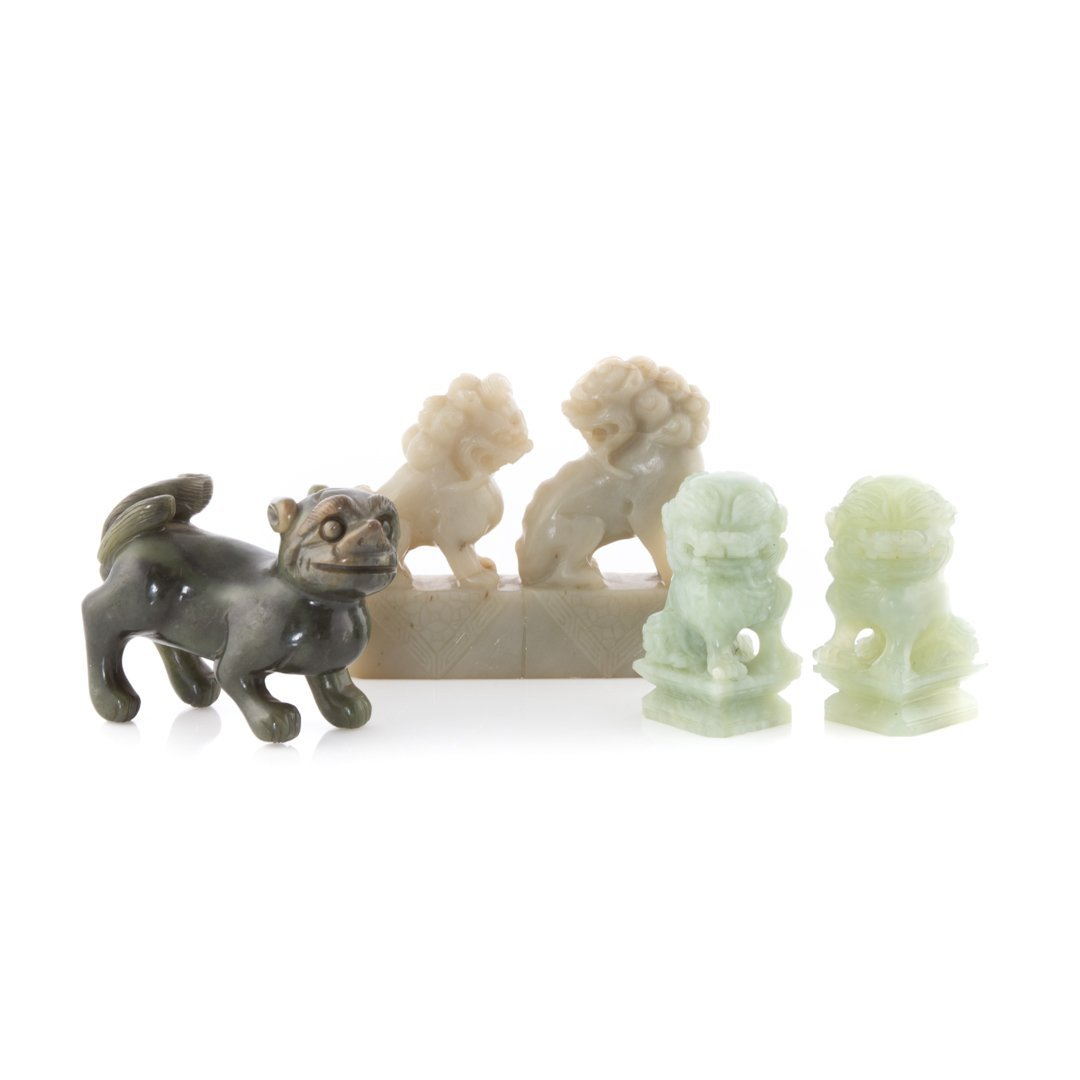 Four Chinese carved jade figures