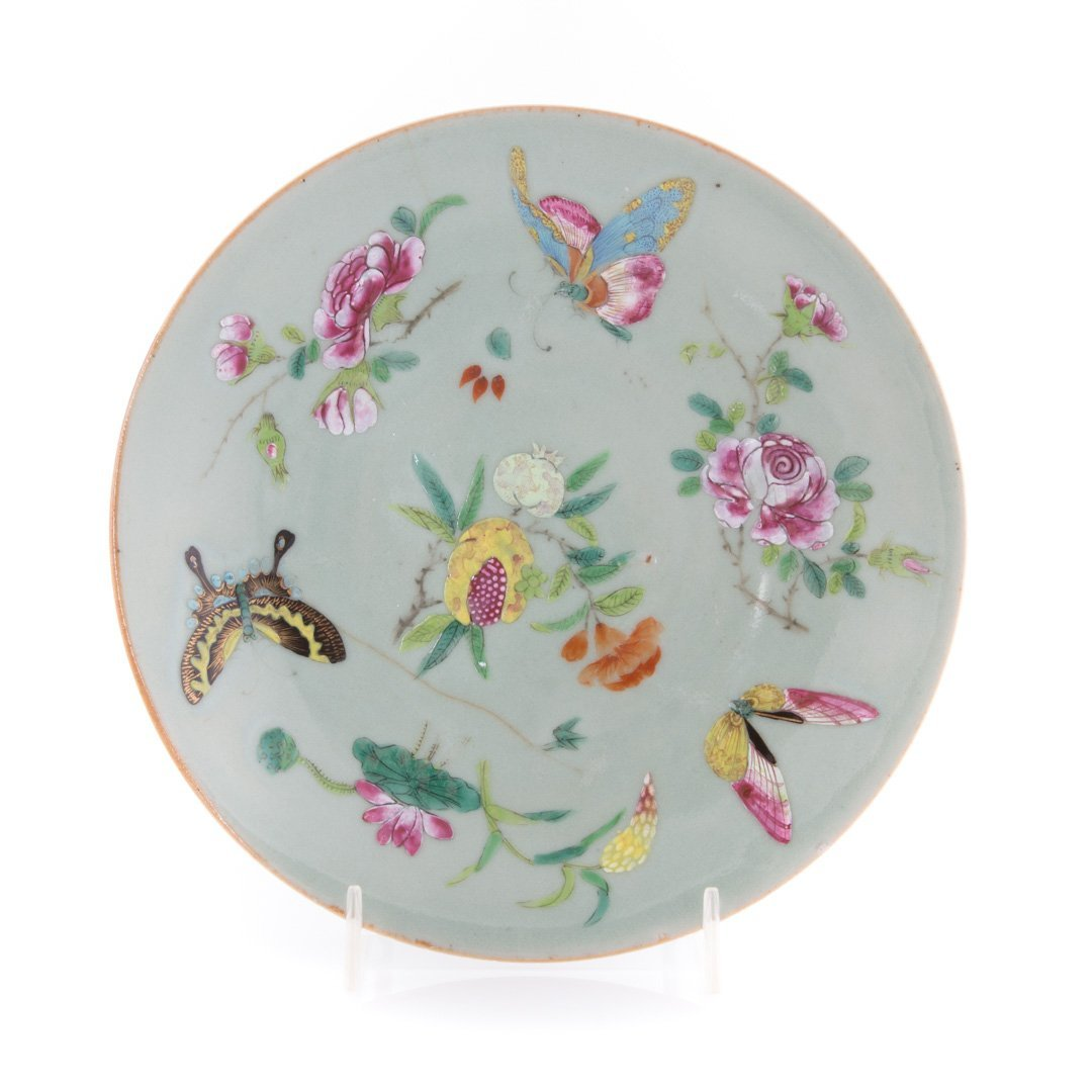 Five Chinese Export celadon luncheon plates - 2