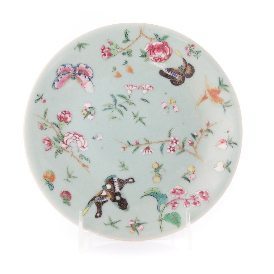 Five Chinese Export celadon luncheon plates - 3