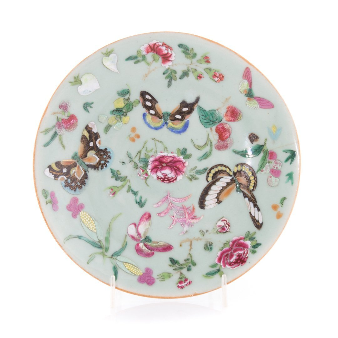 Five Chinese Export celadon luncheon plates - 4