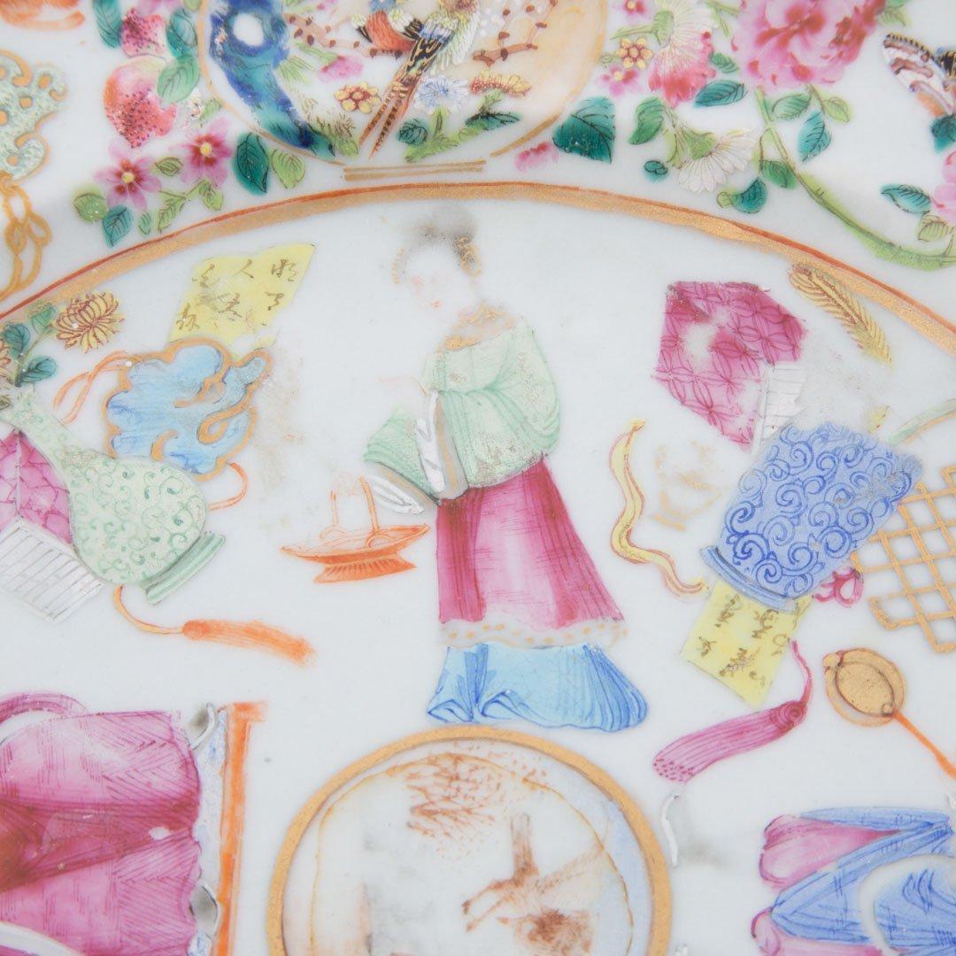 Chinese Export Rose Mandarin hot water plate - 5