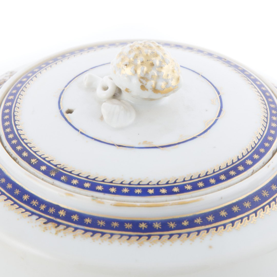 Chinese Export porcelain teapot and bowl - 5