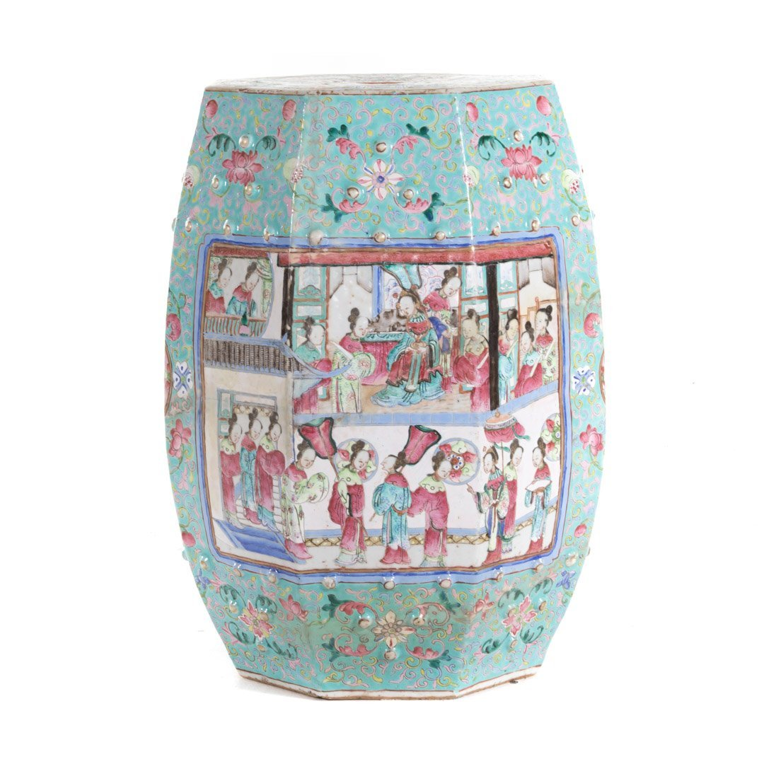 Chinese Export Famille Rose garden seat