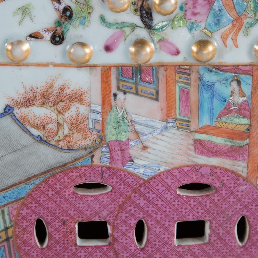 Chinese Export Rose Mandarin garden seat - 5
