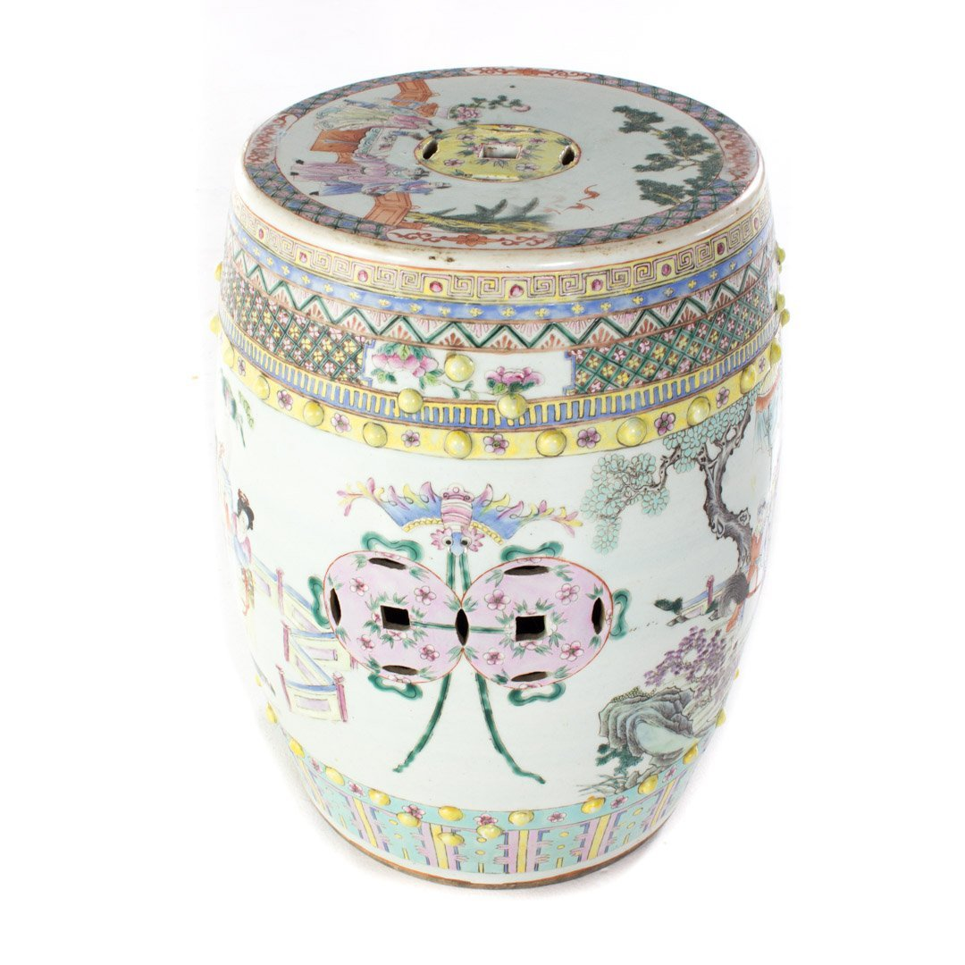 Chinese Export porcelain garden seat - 2