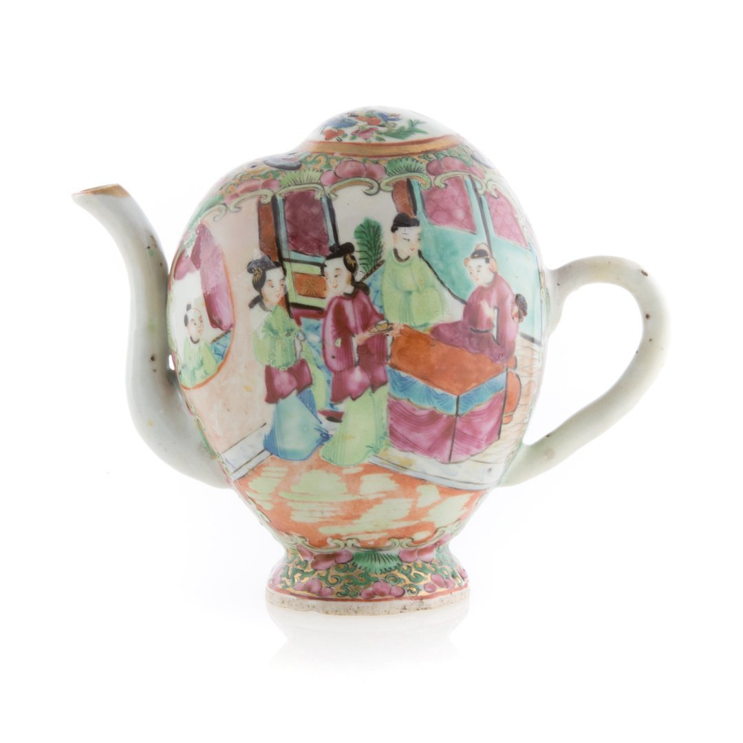 Chinese Export Rose Medallion cadogan and creamer - 2