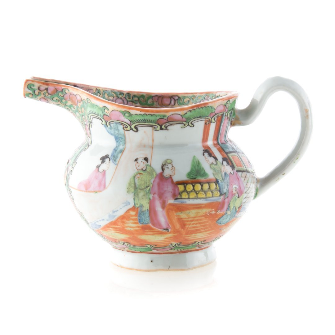 Chinese Export Rose Medallion cadogan and creamer - 3