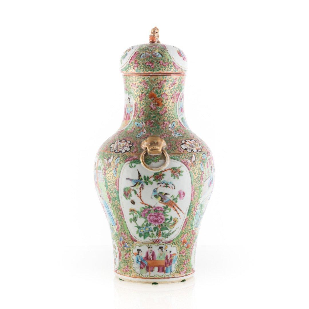 Chinese Export Rose Medallion porcelain vase - 2
